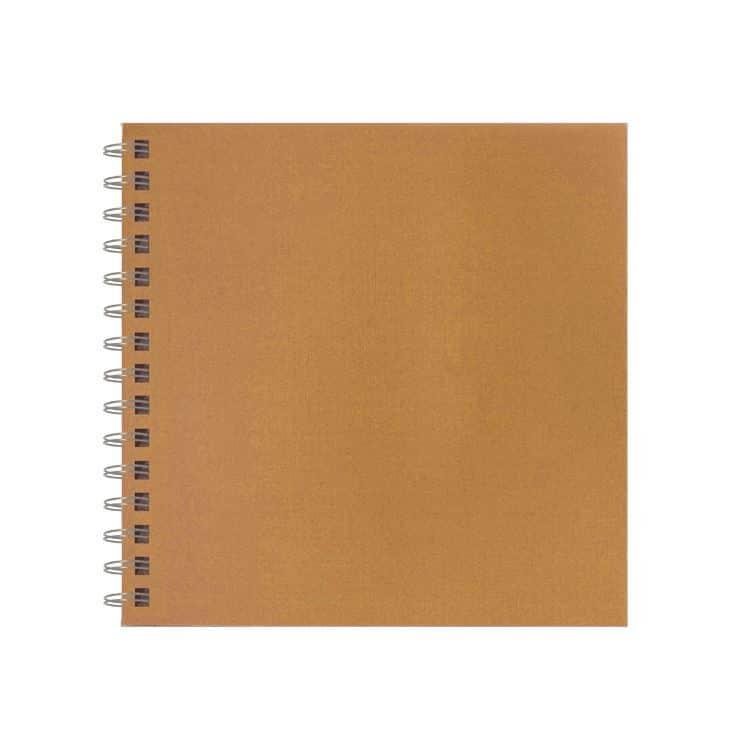 CAH 021 Cahier relié 20x20cm 'Kraft'