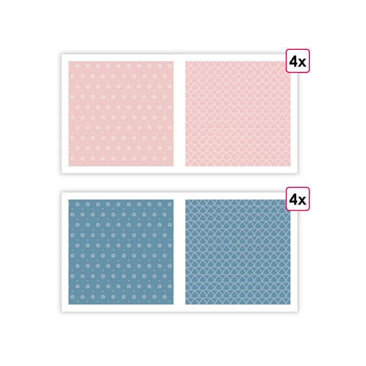 PAP 0093 Papiers imprimés 'Essentiel Rose Sakura' (8f)