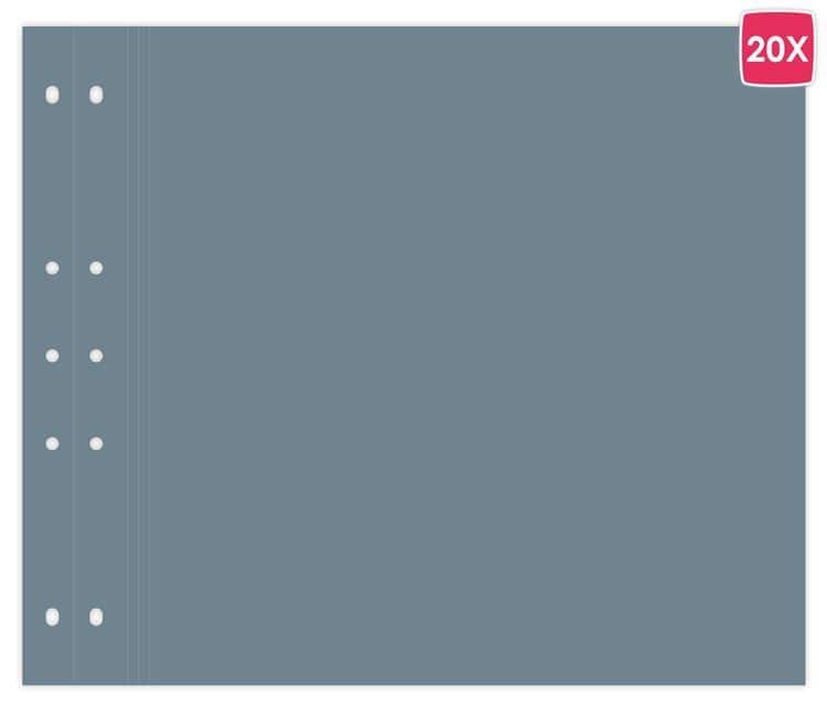 ALB 7525 Pages tendance 30x30 'Bleu Fuji'