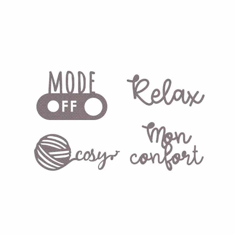 DIE 181 Matrices de découpe 'Mots relax'
