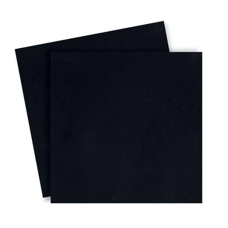 ACC 871 Duo de couvertures en plexi 31x31 cm 'Noir'