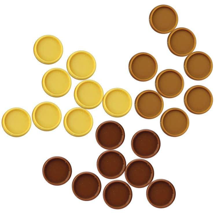 ACC 863 Disques de reliure mobile 18mm Chocolat (24pcs)