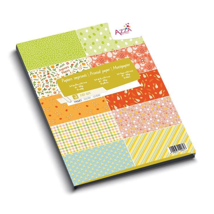 PAP 824 Bloc de papiers imprimés 'Pâques