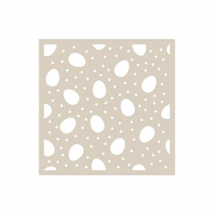GAB 610 Gabarit Texture 15X15 'Oeufs'