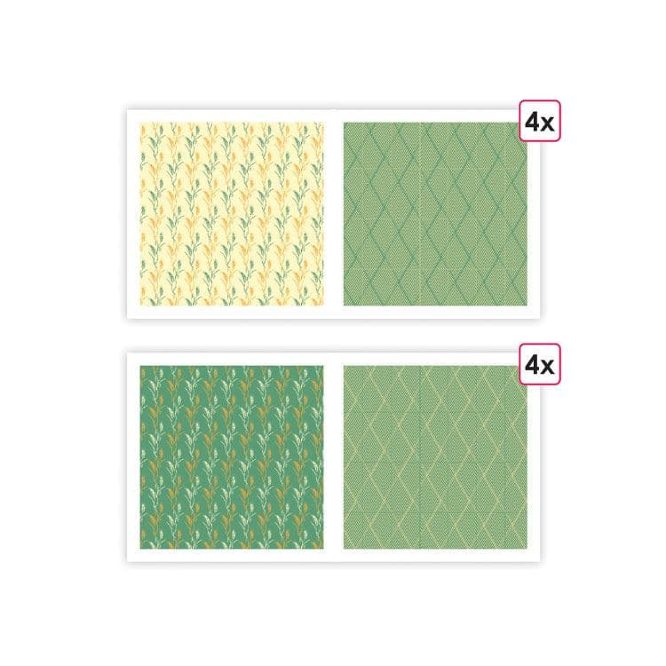 PAP 0098 Papiers imprimés 'Basse-cour' (8f)