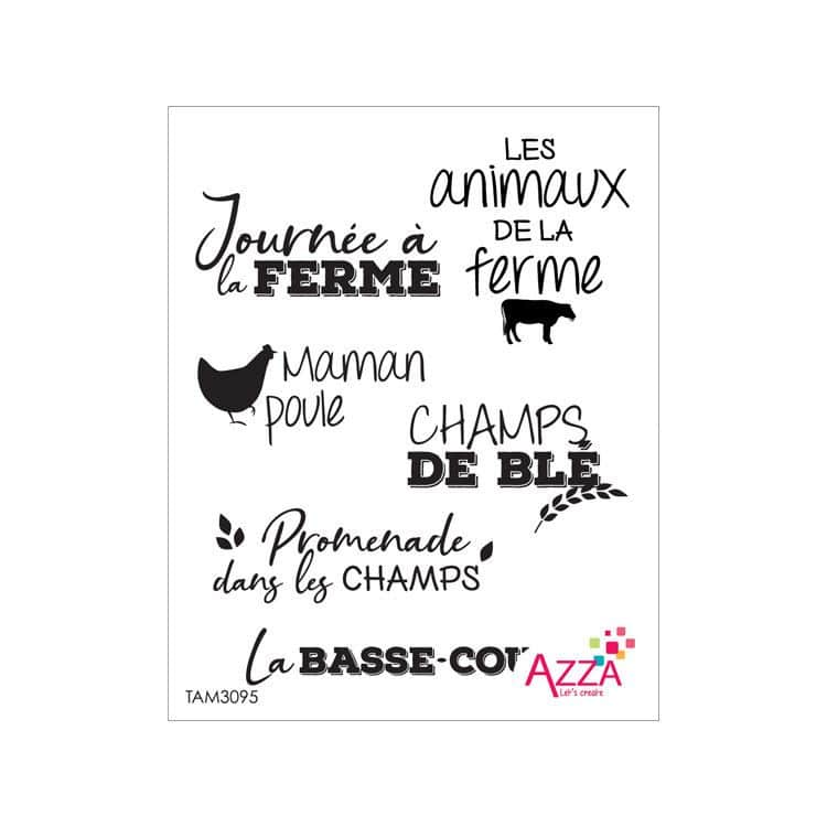 TAM 3095 Tampons Rubis 'Mots basse-cour'