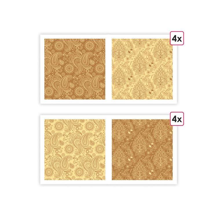 PAP 0092 Papiers imprimés 'Cachemire' (8f)