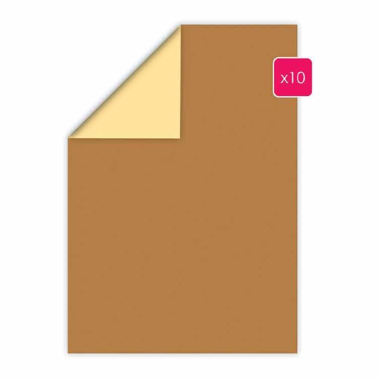 PAP 2024 Papier A4 duo 10p 'Caramel-Vanille'