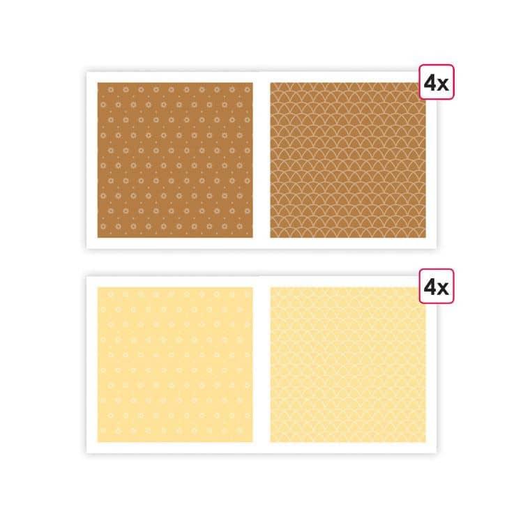 PAP 0097 Papiers imprimés 'Essentiel Caramel' (8f)