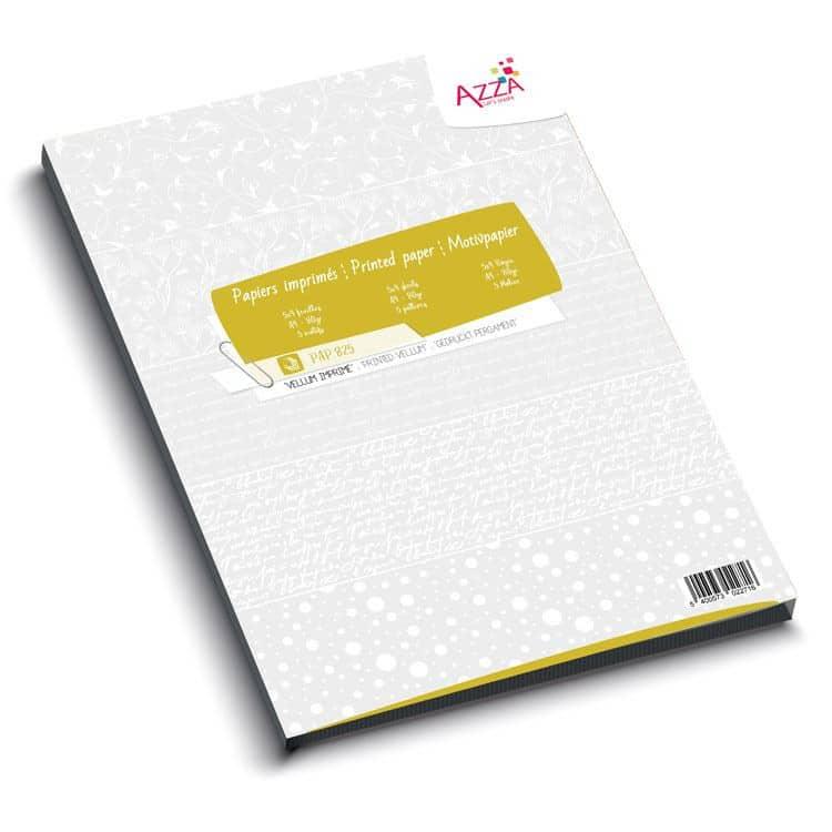 PAP 825 Bloc de papier Vellum imprimé 80gr