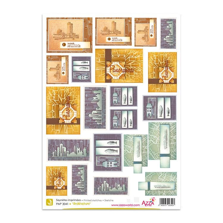 PAP 3041 Saynètes imprimées 'Architecture'
