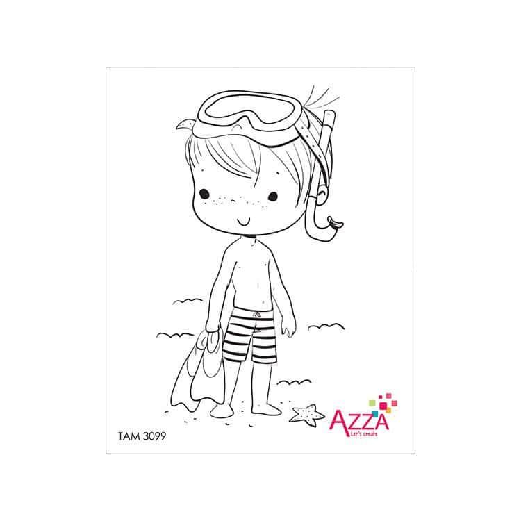 TAM 3099 Tampons rubis 'Louis- à la plage'