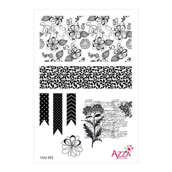 TAM 592 Mini-tampons 'Floral bohème'