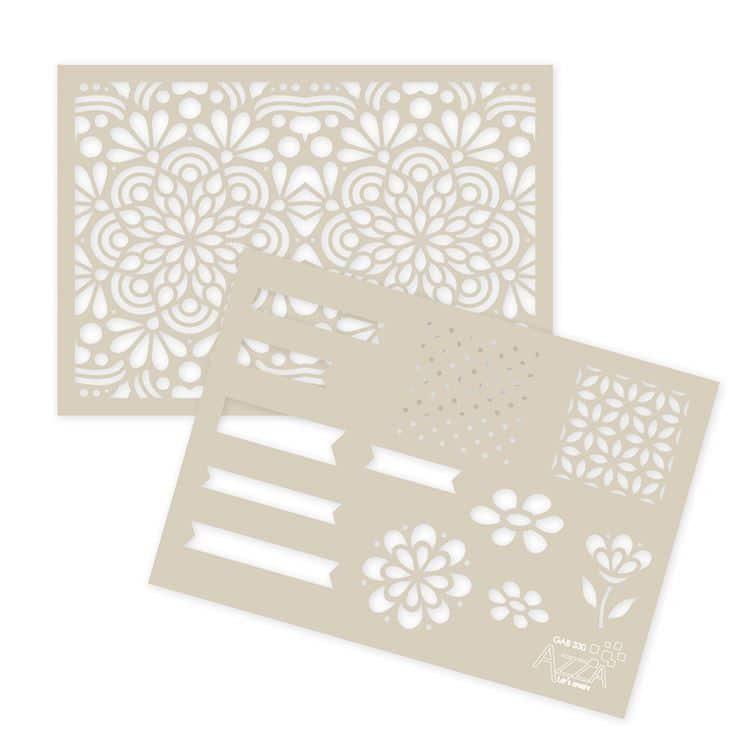 GAB 330 Gabarits texture & décor 'Floral bohème' '