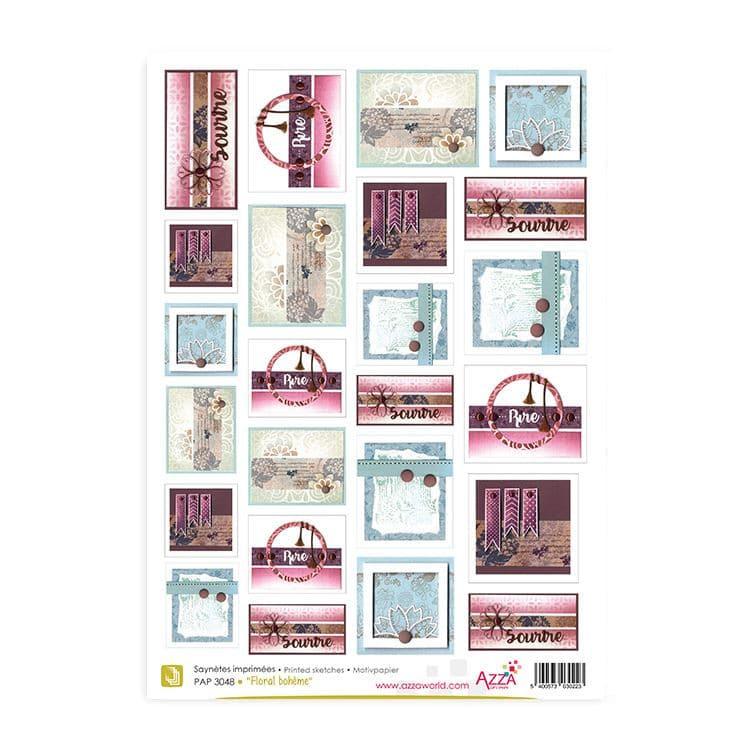 PAP 3048 Saynètes imprimées 'Floral Bohême'