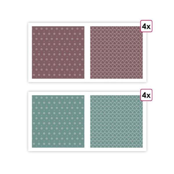 PAP 0206 Papiers imprimés Essentiel 'Orchidée' (8f)