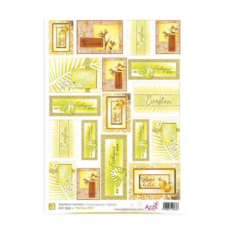 PAP 3043 Saynètes imprimées 'Parfum d'été'