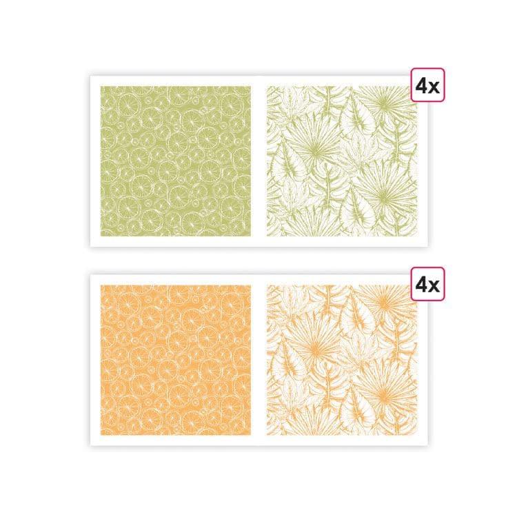 PAP 0200 Papiers imprimés 'Parfum d'été' (8f)
